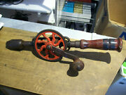 Vintage Hand Crank Egg Beater Style Hand Drill 14 Inches