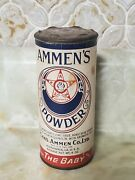 Vintage Ammen's Baby Powder Tin Packaging. Never Used Powder Full. Very Rare 🗝