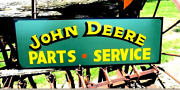 Lg Vintage Hand Painted Art John Deere Tractor Ranch Dairy Farm Store Feed Sign