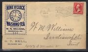 U.s. 1902 Washing-tea Indianapolis, Ind. Advertising Cover Delaware, Ohio Tied