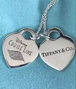 Dcl And Co Disney Cruise Line Exclusive 2 Heart Necklace Brand New In Box