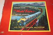 Vintage B And O Large Model Toy Train Set, C1960's Made In Japan, Battery Operated