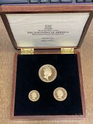 British Virgin Islands 1992 Columbus 3 Coins Gold Proof Set With Box