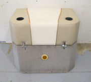 1995 Lund Tyee 1850 Grand Sport 4.3l Sterndrive Engine Motor Cover Tan And White