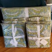 New Pottery Barn King Cecelia Green Paisley Quilt With 3 Euro And 3 Standard Shams