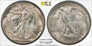 1938 D 50c Walking Liberty Half Dollar Pcgs Ms 65+ Cac Approved Stunning