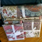 New Pottery Barn King Michelle Patchwork Quilt With 3 Euro And 3 Standard Shams