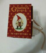Gnomy's Diaries-legend Of Gnomy- Two Gnomes On Bench With B'day Cake