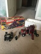 Vintage Kenner Mask Action Figure Toy M.a.s.k. Semi Truck Rhino With Box