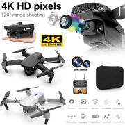 E88 Pro Wifi Fpv Quadcopter With Fordable Hd 4k Wide Angle Dual Camera Drone Rc