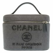 Never Used Deauville Sequin Charcoal Gray Vanity Bag Lt064