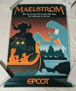 Maelstrom Attraction Viking Epcot Disney Parks World Serigraph Poster Le 78/100