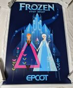 Disney World Frozen Ever After Attraction Epcot Elsa Serigraph Poster Le 69/100