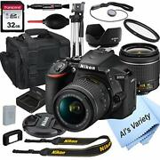 D5600 Dslr Camera With 18-55mm Vr Lens+32gb Card,tripod,case,andmore 18pc Bundle