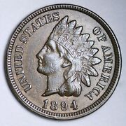 1894 Indian Head Cent Penny Choice Unc Free Shipping E144 Jfw