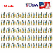 50 Kit Dental Low Speed Handpiece Straight Contra Angle Air Motor 4h Nsk Style H