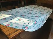 70 Round Floral Cotton Tablecloth Red And Green On White Background