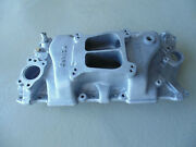 Weiand Rare Old School Aluminum Intake Manifold Small Block Chevy Like Nos New