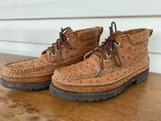Russell Moccasin Co Ostrich Traveling Sports Chukka Shoes Sz 8.5 Usa Vibram