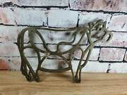 Brass Or Bronze Cow Steer Cuts Of Beef Farmhouse Trivet