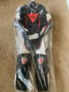 Dainese Misano 2 D-air Racing Suit Black/white/fluo-red - Sz 52
