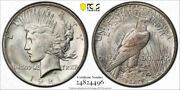 1921 1 Peace Dollar High Relief Pcgs Ms 64 Uncirculated Cac Approved Cert4496