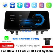 12.3 Ips Touchscreen Car Stereo Radio Gps Player For Bmw X1 F48 2018 Evo System