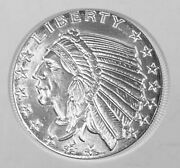 Incuse Indian Silver Round Gsm .1 Troy Ounce 999 Fine Silver