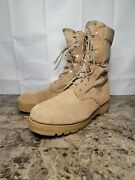 Men's Wellco Military Tactical Army Combat Desert Tan Boots Size 9.5 W