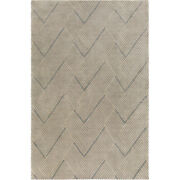 Surya Lnx4000-46 Lenox 72 X 48 Inch Blue And Neutral Area Rug Wool And Cotton