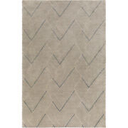Surya Lnx4000-46 Lenox 72 X 48 Inch Blue And Neutral Area Rug, Wool And Cotton