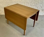 Mid Century Modern Drop Leaf Dining Table By Red Lion Furniture