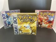 Pokemon Red Blue Yellow 🔥 Nintendo Gameboy Great Conditions