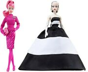 Barbie 60th Ann. Bfmc Dolls - Proudly Pink And Black And White Forever Nrfb