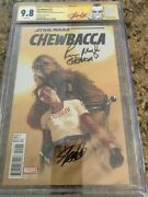 Star Wars Chewbacca 1 Cgc 9.8 Ss Signed By Peter Mayhew And Stan Lee