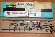 Athearn 7603 85 Ft Flat Car Kit With 3 Containers Trailer Train Ttx Ttax 970010