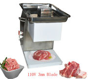 Meat Processing Equipment Qx 110v Stainless Commercial Meat Slicer W/ 3mm Blade