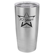 Personalized Stainless Steel Polar Camel Ringneck Tumbler With Clear Lid 20 Oz.