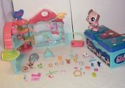 Littlest Pet Shop Lot✿tackle Box Storage Case✿biggest House And Accessories✿ +more