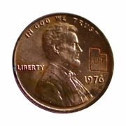 Rare Collectible 1976 Bicentennial Lincoln Memorial Utah State Stamped Penny