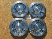 1961 Pontiac Bonneville Catalina Star Chief 14 Spinner Wheel Covers Hubcaps
