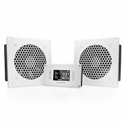 Airplate T8 White, Quiet Cooling Dual-fan System 6 With Thermostat Control,