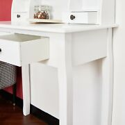 Storage Space With 4 Drawers, Secretary Table Computer Desk Writing Table