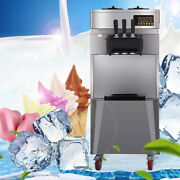 Automatic 20l/h Stand Commercial 3 Flavors Ice Cream Machine 304 Stainless Steel