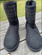 Uggs Short Studded Women's Boots, Size 8, Pre-owned But Clean