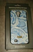 Brahmin Mobile Phone Case For Samsung Galaxy S4 Blue Lyon Leather