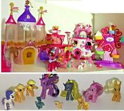 My Little Pony Ponyville Lot And Equestria Wedding Castle Pony Figures + More