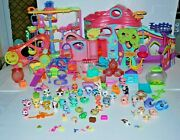 Littlest Pet Shop Lot✿round And Round Pet Town✿biggest House And Accessories✿✿pets +