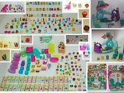 Lot Of Shopkins Tons Of Accessories Carts Baskets Bags Cards Figures