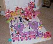 Lot Of My Little Pony Ponyville And Friendship Express Train Several Specials Cars